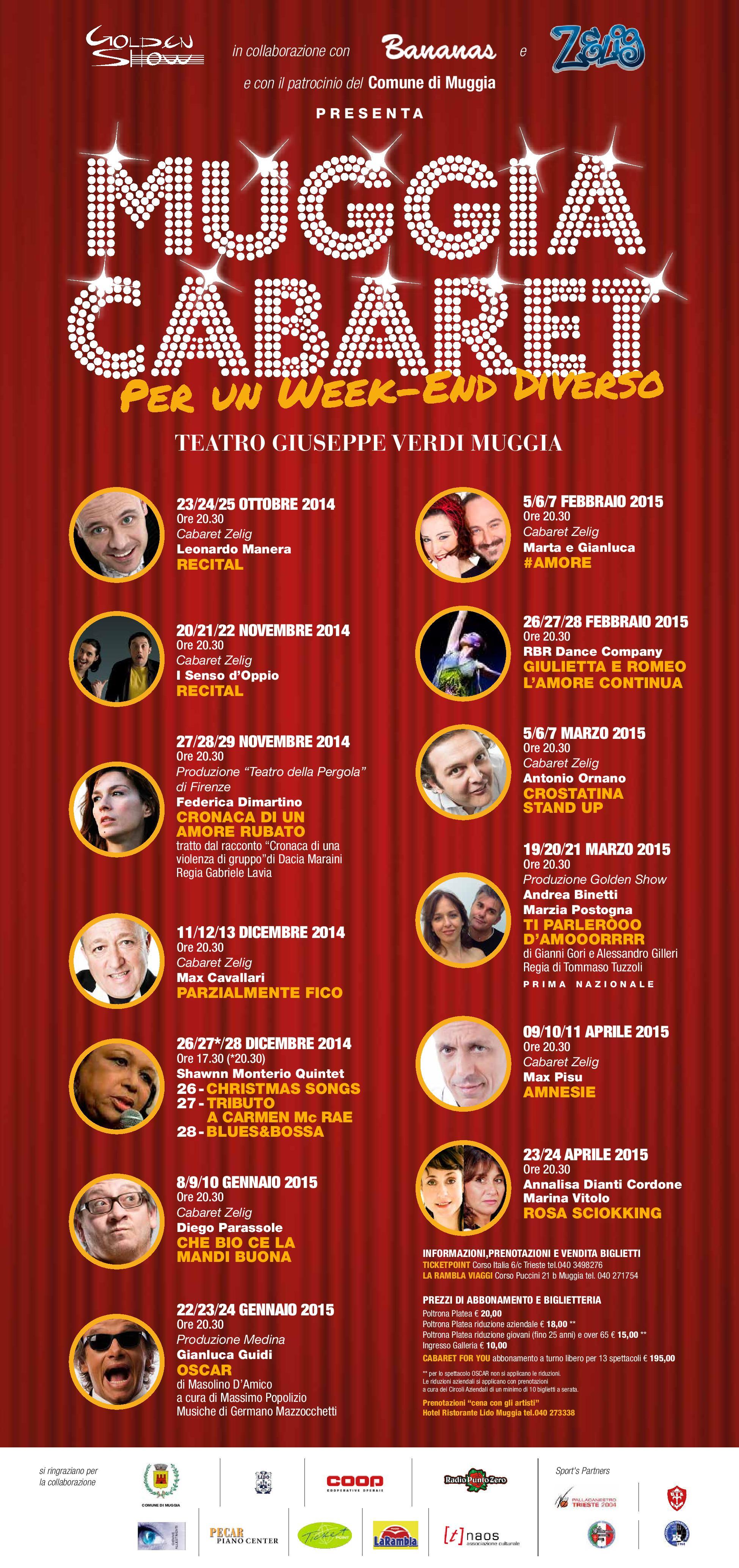 Locandina Muggia Cabaret 2014